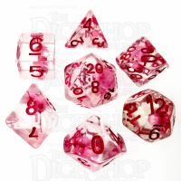 TDSO Encapsulated Flower Pink 7 Dice Polyset