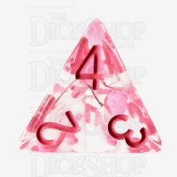 TDSO Encapsulated Flower Pink D4 Dice