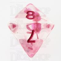 TDSO Encapsulated Flower Pink D8 Dice