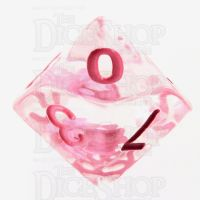 TDSO Encapsulated Flower Pink D10 Dice