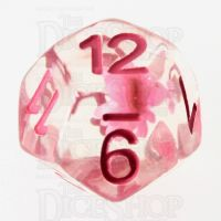 TDSO Encapsulated Flower Pink D12 Dice