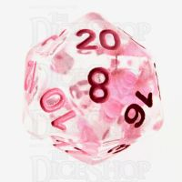 TDSO Encapsulated Flower Pink D20 Dice