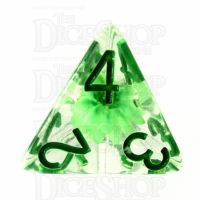 TDSO Encapsulated Flower Green D4 Dice