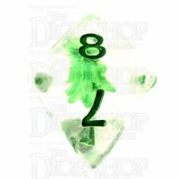 TDSO Encapsulated Flower Green D8 Dice