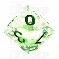 TDSO Encapsulated Flower Green D10 Dice