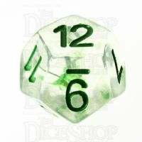 TDSO Encapsulated Flower Green D12 Dice