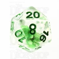 TDSO Encapsulated Flower Green D20 Dice