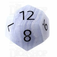 TDSO Agate Lace with Engraved Numbers 16mm Precious Gem D12 Dice