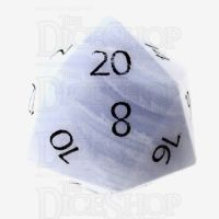 TDSO Agate Lace with Engraved Numbers 16mm Precious Gem D20 Dice