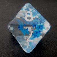 TDSO Confetti Butterfly Blue & White D8 Dice
