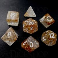 TDSO Particles Gold & Silver 7 Dice Polyset