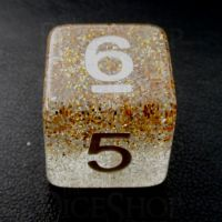 TDSO Particles Gold & Silver D6 Dice