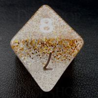 TDSO Particles Gold & Silver D8 Dice