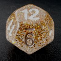 TDSO Particles Gold & Silver D12 Dice