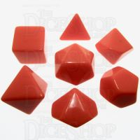 TDSO Opaque Blank Orange 7 Dice Polyset
