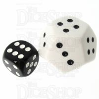 Koplow Opaque White JUMBO 28mm 12 Sided D4 Spot Dice