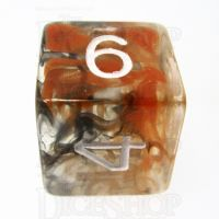 Role 4 Initiative Diffusion Lava Field Gold D6 Dice