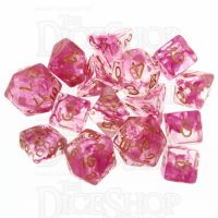 Role 4 Initiative Diffusion Rose Gold 15 Dice Polyset