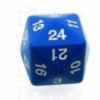 Koplow Opaque Blue & White D24 Dice