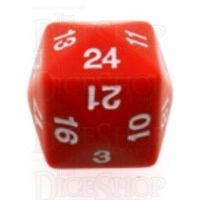 Koplow Opaque Red & White D24 Dice