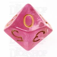 Role 4 Initiative Diffusion Rose Gold D10 Dice