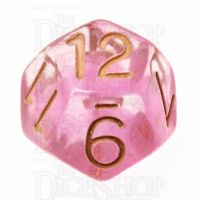 Role 4 Initiative Diffusion Rose Gold D12 Dice