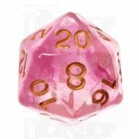 Role 4 Initiative Diffusion Rose Gold D20 Dice
