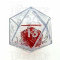 Koplow Clear Double D20 Dice