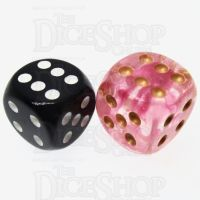 Role 4 Initiative Diffusion Rose Gold 18mm D6 Spot Dice