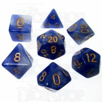 TDSO Duel Glitter Blue & White 7 Dice Polyset LTD EDITION