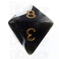 TDSO Marble Black & White D8 Dice