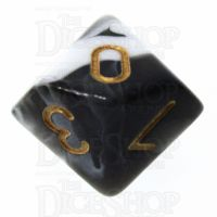 TDSO Marble Black & White D10 Dice
