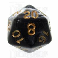 TDSO Marble Black & White D20 Dice