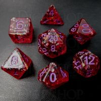 TDSO Cherry Bomb 7 Dice Polyset FABULOUS FIFTY
