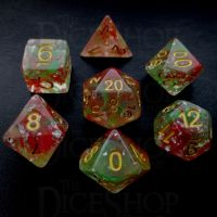 TDSO Elven Fury - Royal 7 Dice Polyset FABULOUS FIFTY