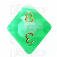TDSO Marble Bright Green & White D8 Dice