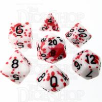 TDSO Red Blood Splatter 7 Dice Polyset