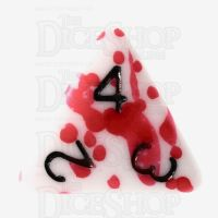 TDSO Red Blood Splatter D4 Dice