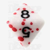 TDSO Red Blood Splatter D8 Dice