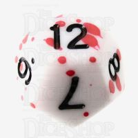 TDSO Red Blood Splatter D12 Dice