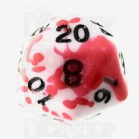 TDSO Red Blood Splatter D20 Dice