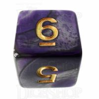TDSO Duel Purple & Steel with Gold D6 Dice