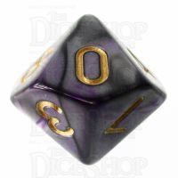 TDSO Duel Purple & Steel with Gold D10 Dice