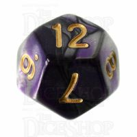 TDSO Duel Purple & Steel with Gold D12 Dice