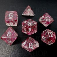 TDSO Confetti Rose Red 7 Dice Polyset
