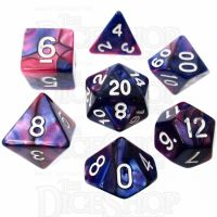 TDSO Duel Pink & Purple 7 Dice Polyset