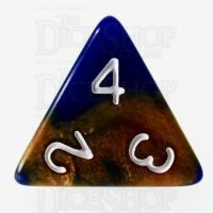 TDSO Duel Blue & Bronze D4 Dice