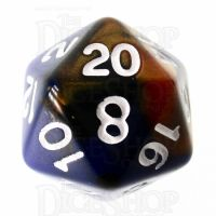 TDSO Duel Blue & Bronze D20 Dice