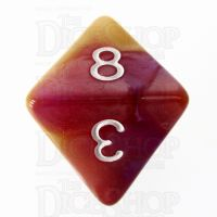 TDSO Trio Gold Pink & Purple D8 Dice