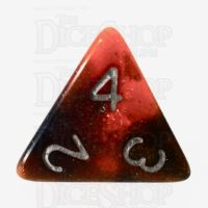 TDSO Trio Blue Gold & Purple Glitter D4 Dice